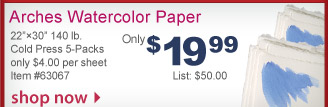 Arches Watercolor Paper - Only $19.99 - Shop Now