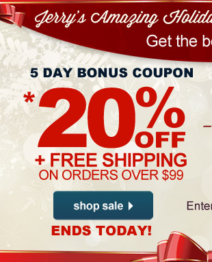 Online Bonus Coupon: Save Up To 20% OFF + Free Shipping off orders $99 or more - Use Code 21rpd at checkout.