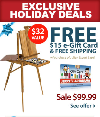 FREE* $15 e-Gift Card & FREE Shipping with Purchase of Jullian Escort Easel - See Offer