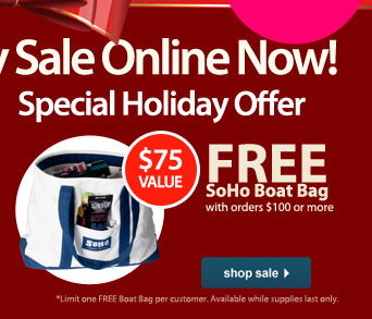Special Holiday Offer Free* SoHo Boat Bag - Shop Sale