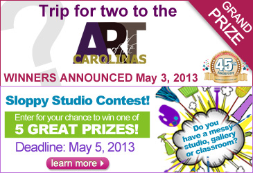Trip for 2 to Art of Carolinas contest and Sloppy Studio Contest Deadlines