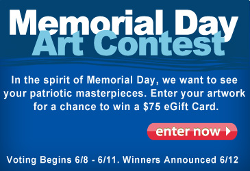 Memorial Day Art Contest, enter to win $75 eGift Card. on facebook