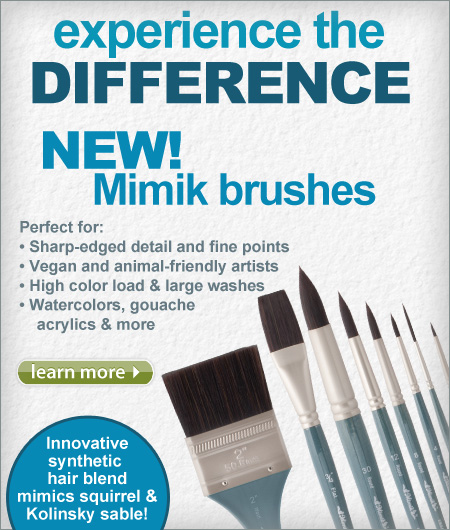 Experience the difference, New Mimik Brushes mimics Squirrel and Kolinsky Sable!