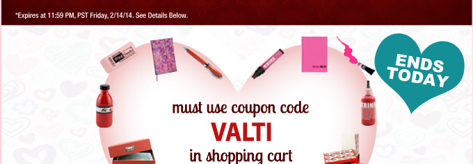 Ends Friday, February 14th, Jerry's Valentine's Day Sale: Save 20% Off Plus Free Shipping - Must Use Code VALTI At Checkout.