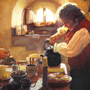 1st Place: Lord of the Rings Inspired:Gandalf and Bilbo Having Tea by Christopher Clark of Wheat Ridge, CO