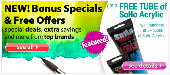 buy 5 or more tubes of Best Value Soho Acrylic Paints and recieve a free tube of yuor choice!