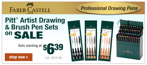 Faber-Castell Pitt Artist Drawing Pen Sets!
