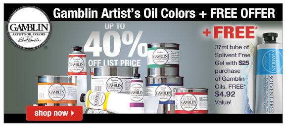 Up to 40% Off on Gamblin Artist's Oil Colors!