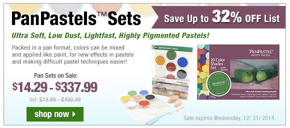 Save Up to 32% Off on PanPastel Sets  | start shopping