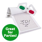 Kids 3D Drawing Pad with 3D Glasses!