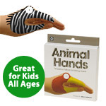 Temporary Tattoo Hand Puppets: Animals