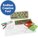 Kids Character Drawing Stencil Box Kits: Dinosaurs