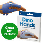 Temporary Tattoo Hand Puppets: Dinosaurs