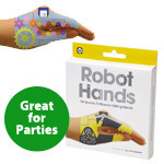 Temporary Tattoo Hand Puppets: Robots