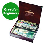 Daler-Rowney Artists' Watercolor Wood Box Set