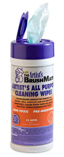 The Artists' BrushMate Wipes and Sprays