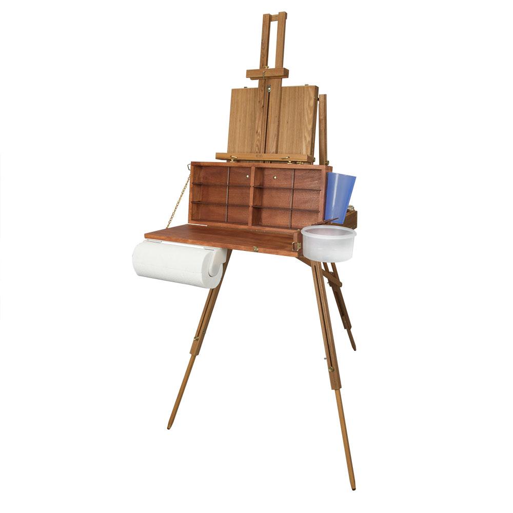 Jullian Escort French Easel with Dan Helsel Easel Palette Box
