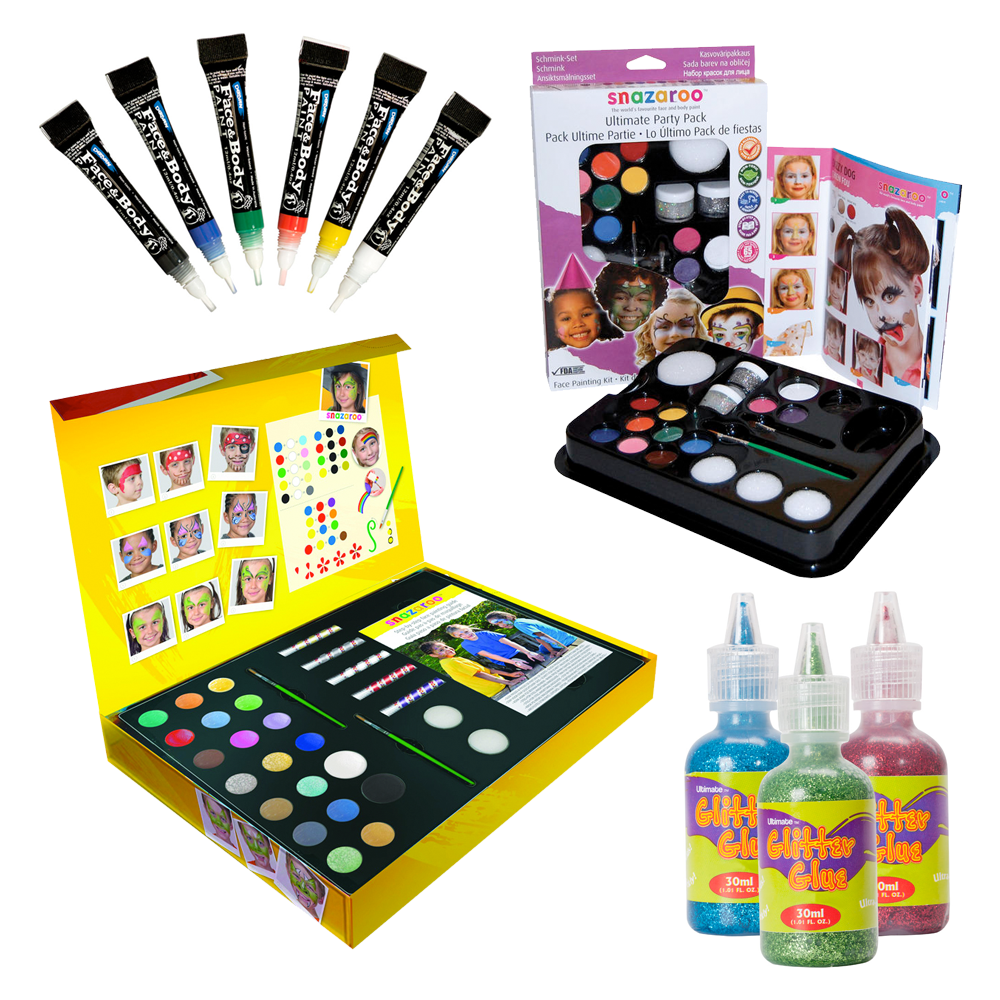 Face Paint and Glitter Glue for Kids