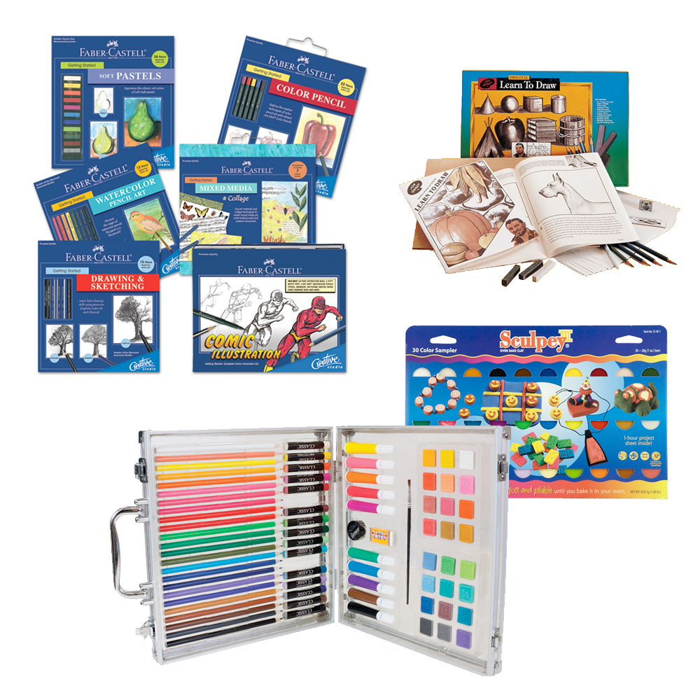 Kids Sets for Drawing, Painting, and Learning Art