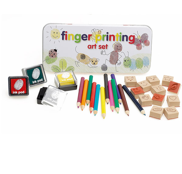 Kids Finger Printing Art Stamp Set