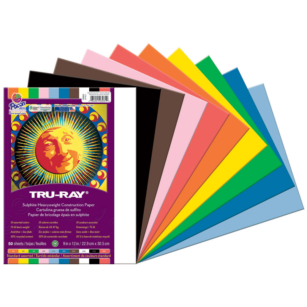 Tru-Ray Sulphite Construction Paper Packs
