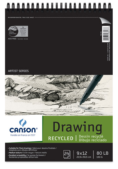 Canson Classic White Recycled Drawing Pads