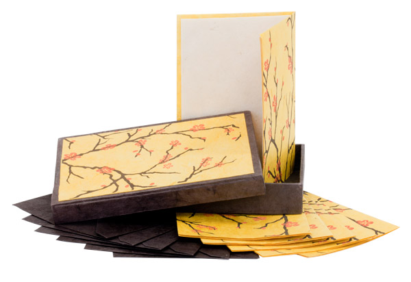 Mountain Peak Handmade Lokta Paper Stationery Sets