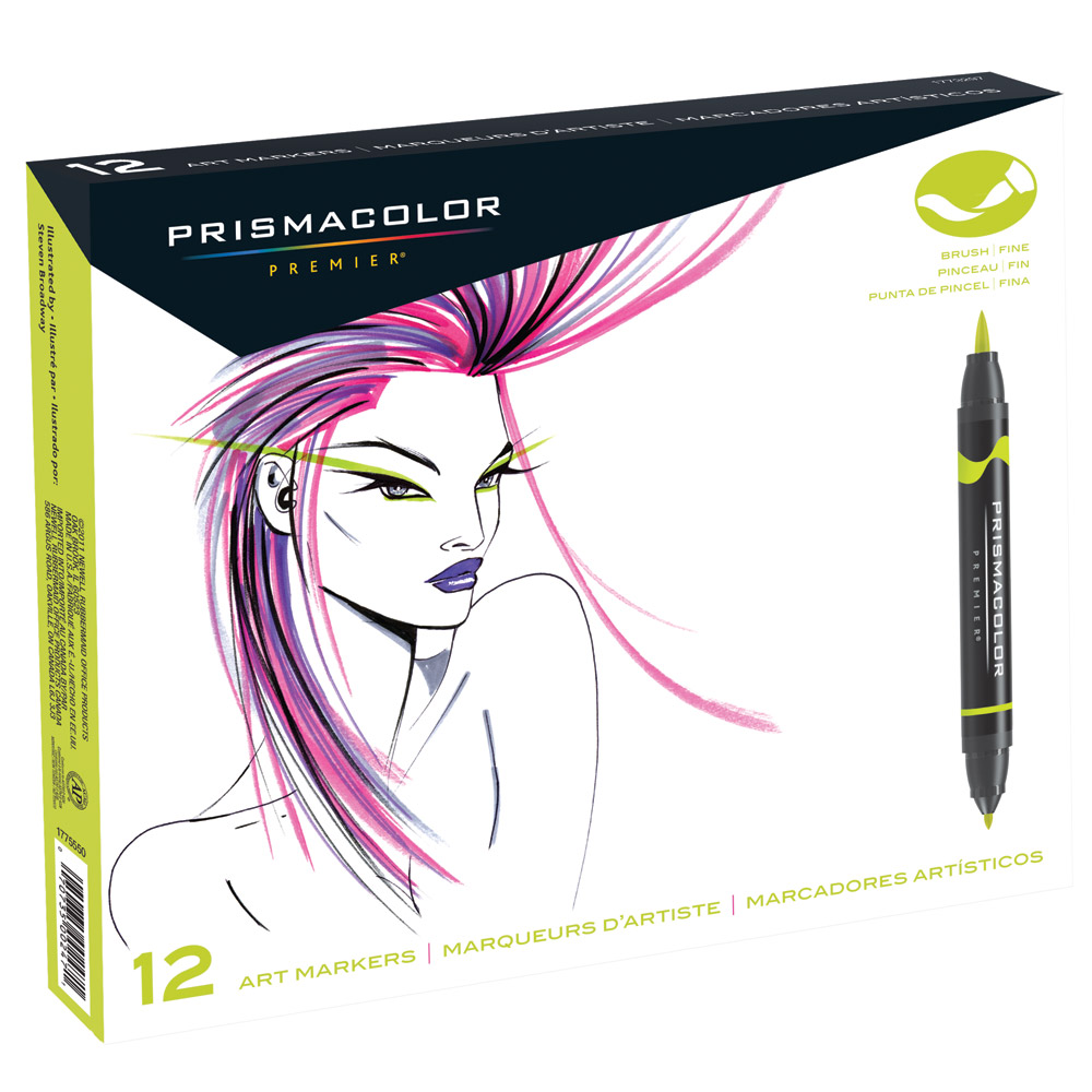 Prismacolor Double-Ended Brush Tip Art Marker Sets