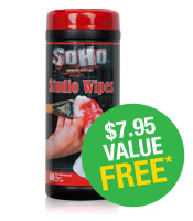 Purchase R&F Pigment sticks (item# V10474) or R&F Encaustics Starter Kit (item# V04357) & receive a FREE container of SoHo Studio Wipes (a $7.95 value). *Offer valid while supplies last.