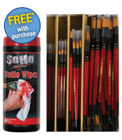 Free SoHo Wipes with Purchase of Class Pack Brush Sets