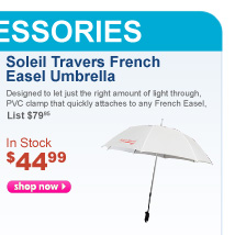Soleil Travers French Easel Umbrella