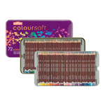 Derwent Coloursoft Pencils Tin of 72 Colors