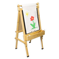 Fundamentals Adjustable Wooden Easel for Children