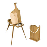 Safari 2 French Easel with Walnut Finish
