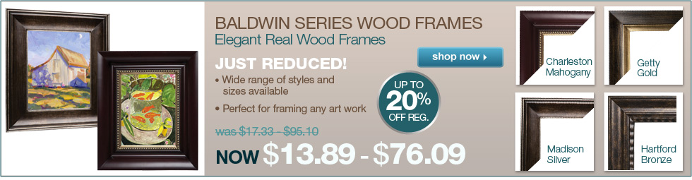 Just Reduced! -Elegant Baldwin Series Wood Frames