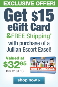 FREE eGift Card with purchase of a Jullian Escort French Easel