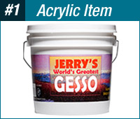 Jerry's World's Greatest White Acrylic Gesso Primer