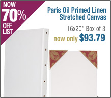 Paris Oil Primed Artists' Linen Stretched Canvas