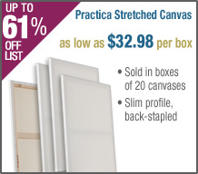 Practica Stretched Canvas Box of 20