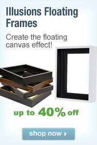 Illusions Floater Frames - Canvas Floater Frames