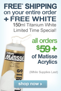 FREE Shipping Plus FREE White with purchase of Matisse Acrylics!