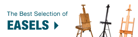 Shop our huge selection online of Artist Studio Easels, French Easels, Travel Easels, Table Easels, amd Display Easels.