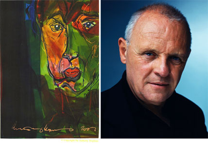 It's no surprise that when Anthony Hopkins turns his hand to painting, he produces superb and slightly disturbing artwork.