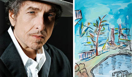 Musician Bob Dylan also paints a wide variety of subjects.