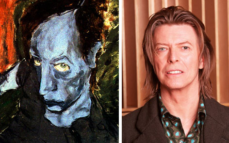 Avant garde musician David Bowie went to art school before becoming famous, and is recognized as a talented painter.