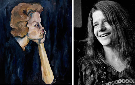 Had she had more time, perhaps musician Janis Joplin's paintings would have become as famous as her songwriting.