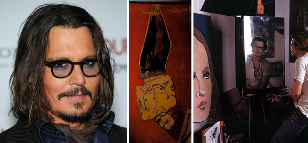 Actor Johnny Depp is multi-talented, and his paintings show just one side of his multi-faceted talents.