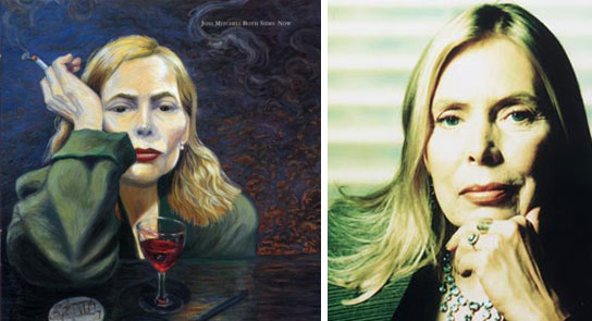 Joni Mitchell considers herself a painter first and a musician second, and her artwork has been featured on the covers of her albums.