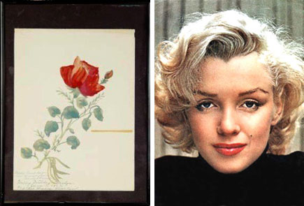 Actress Marilyn Monroe created paintings as lovely as she was.