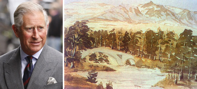 Even royalty admires the arts, as evidenced by Prince Charles of England's attraction to painting landscapes.